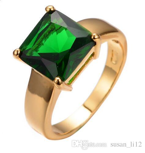 stone rings ring square coach gold with green