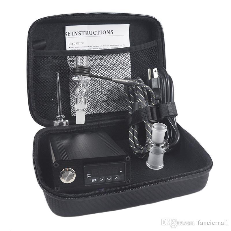 Banger E Quartz Nail Electric Dab Nail Box Kit Quartz Nail Carb Cap 14 18 MM Male Temperature Controller Rig glass Bongs