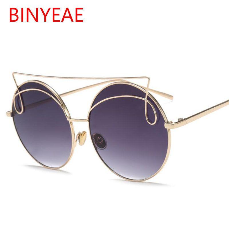 1ee48db68f5b Steampunk Sunglasses Round Gold Frame For Women Oversized Sun Glasses  Female Mirror Shades Brand Designer Sunglasses For Men 2018 Oculos Cycling  Sunglasses ...