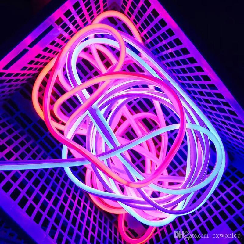 Yeni Geliş LED Neon Burcu LED Flex Halat Işık PVC LED Kapalı / Açık Flex Tüp Disco Bar Pub Noel Partisi Dekorasyon Şeritler