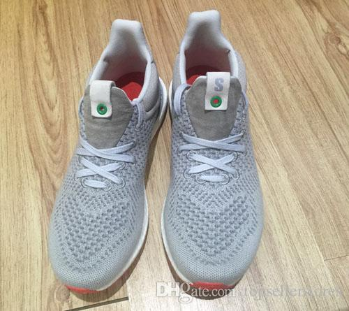 107ecd6af4024 New Casual Shoes Solebox Consortium Gray Red Ultra UNCAGED Fashion Men  Women Breathable Sneakers Size 36 44s Online Navy Shoes Blue Shoes From ...