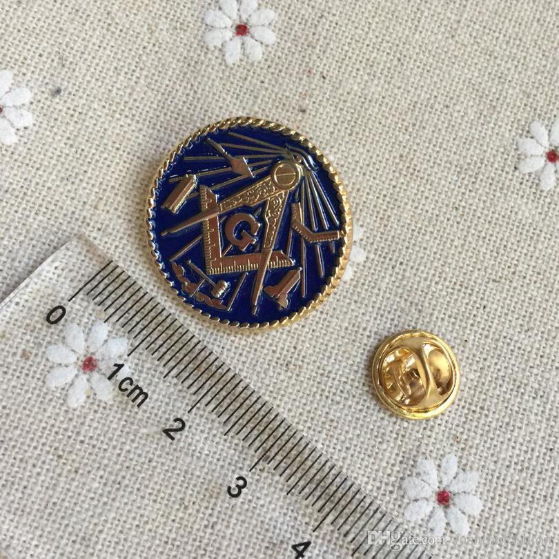 10pcs wholesale custom make masonic lapel pin badges Working Tools  Freemason metal crafts masonry brooch and pin freemasonry