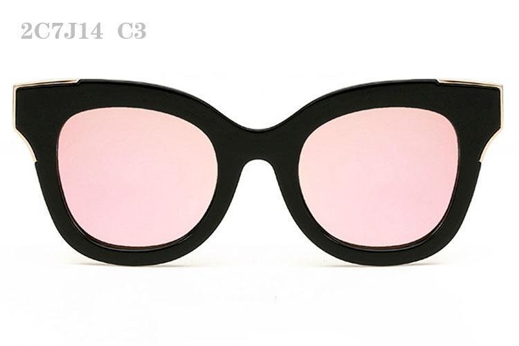 Occhiali da sole gli uomini delle donne di modo occhiali da sole donna retrò Sunglass Mens di lusso di vetro di Sun specchio di alta qualità Occhiali da Sole 2C7J14