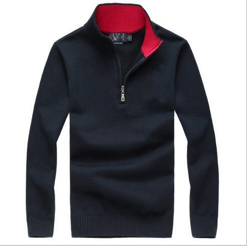 2017 Hot Popular Golf Pony men sweater US Embroidery Horse Casual zipper Sweater Custom made Winter Male Jumpers M~2XL