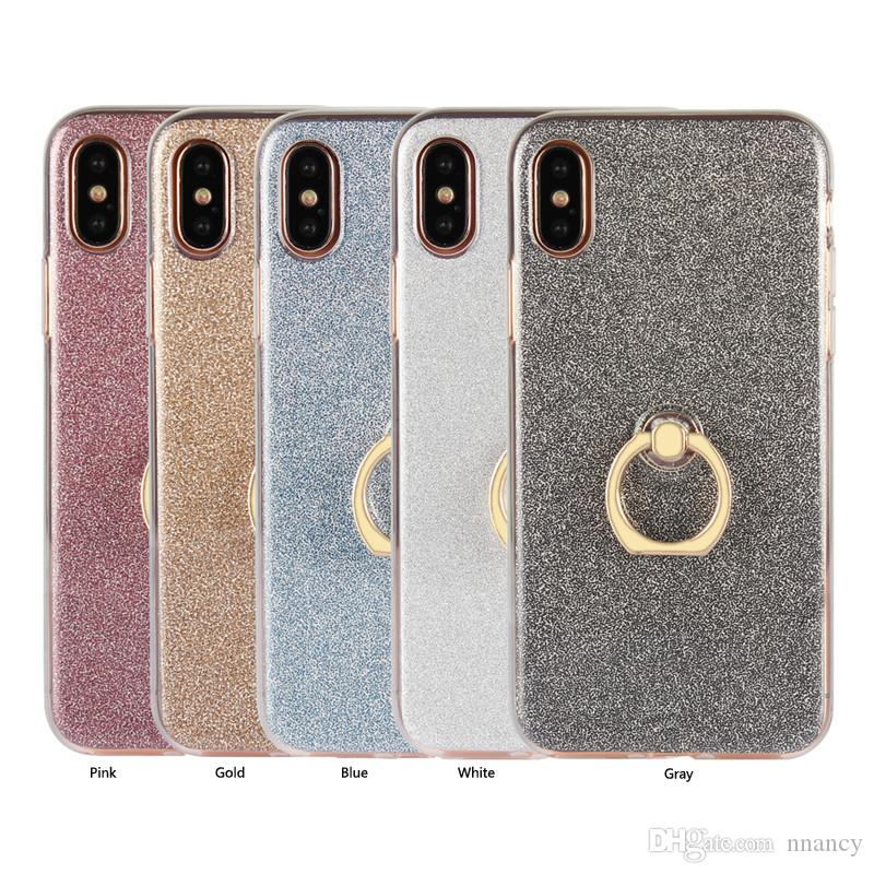 quality design 548b4 91646 Stylish lightweight Case For Iphone X IPhone 4 5 6 7 8 Plus Cover Metal  Ring Shockproof Cover Case Phone shell