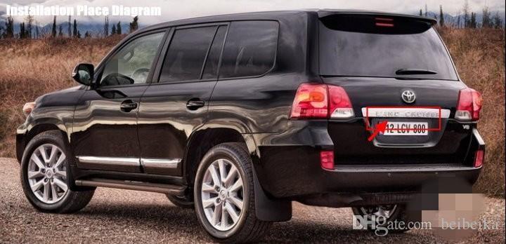 Voiture OEM CCD RCA NTST plaque d'immatriculation lumière / caméra de recul Toyota Land Cruiser / Prado 1998 ~ 2014 pas de roue de secours sur la porte arrière