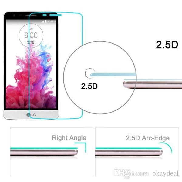 2.5D 9H Ultra Thin Screen Protector Glass For LG LS751/joy/spirit H440/Magna/V10/G5/K7/K10/K4/L90
