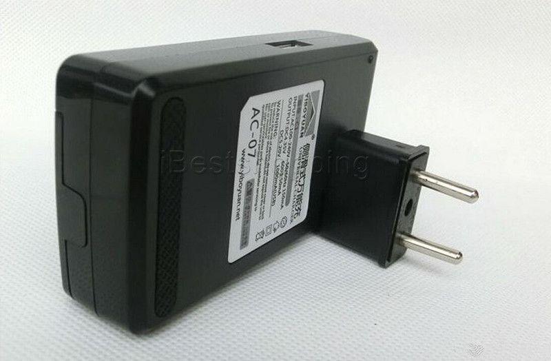 Universal inteligente lcd indicador carregador de bateria para samsung s4 i9500 s3 i9300 nota 3 s5 com carga de saída usb eua au plugue