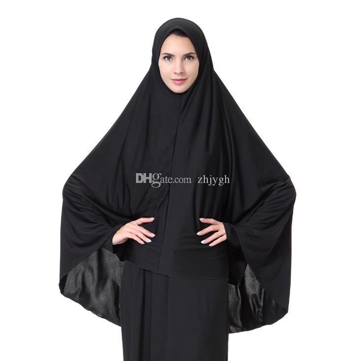 9c96bcd067a7 Acheter En Gros Foulards, Musulman Arabe Dames Long Hijab, Hijabs Noir,  Livraison Gratuite De  8.16 Du Zhjygh   DHgate.Com