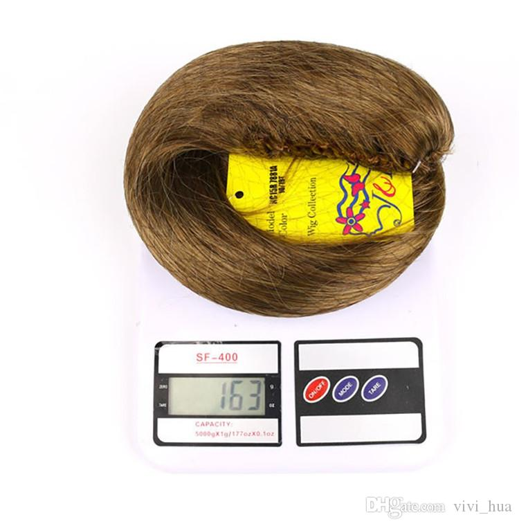 """XT030 21"""" Straight Hair Ponytail Claw Synthetic Wig Red Brown Black Blonde Hair Color"""