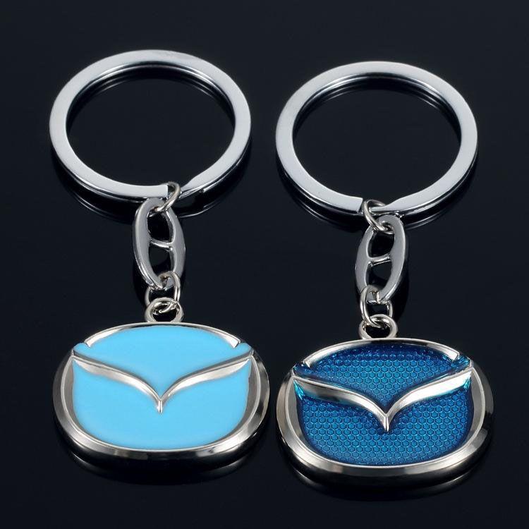 Fashion Mazda Car Logo Metal Alloy Key Chain Keyring Car Keychains