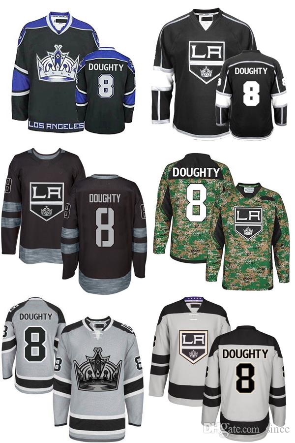 dd8bad6dc9e 2019 2016 New Drew Doughty Jersey Alternate Mens LA Los Angeles Kings 8  Drew Doughty Black White Stadium Series Embroidery Hockey Jerseys From  Since