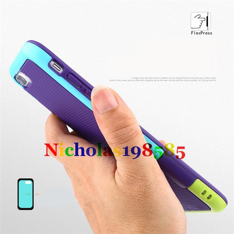 Para el iphone 7 7plus Armadura del teléfono celular Casos híbridos Protección Cubierta del teléfono Duro Trabajo pesado PC TPU A prueba de choques Defensa Cubiertas Casos