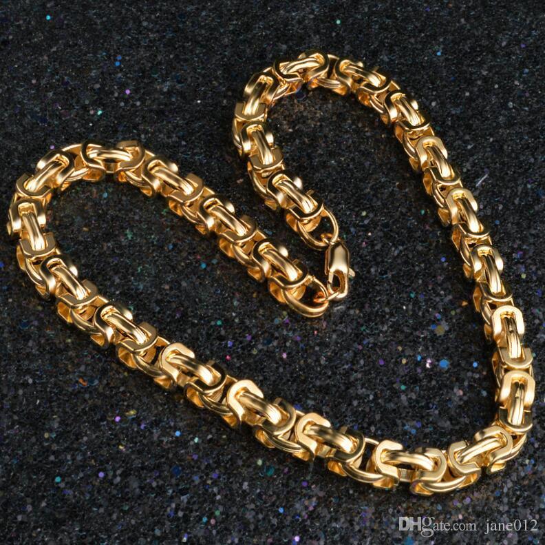 20 pulgadas 18K chapado en oro Fígaro collar de cadena moda arrogante para hombre accesorios de la joyería de oro para hombres y mujeres
