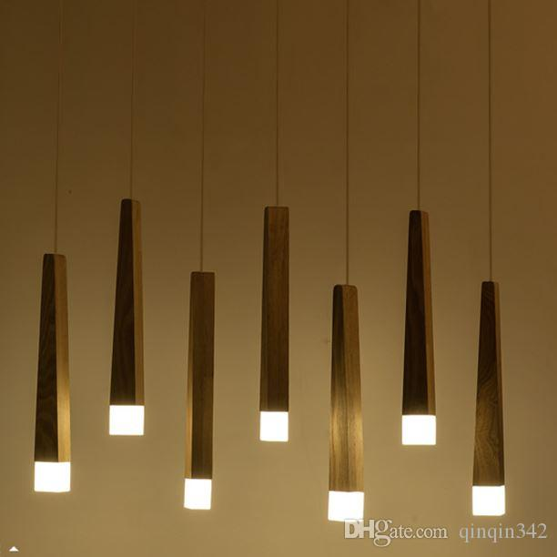 decorative pendant lights. 5 Solid Wood Art Pendant Lights Led Chip Office Restaurant