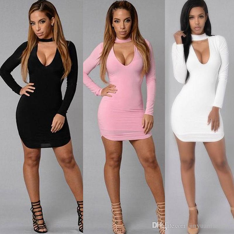 2017 New Fashion Women s Long Sleeve Bodycon Evening Party Cocktail ... 504262608dee