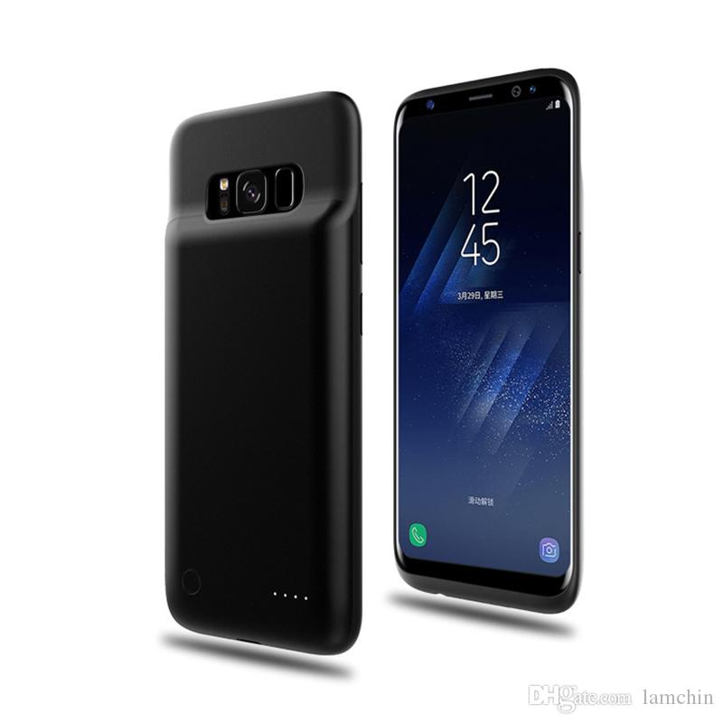 100% authentic 0821f 6dd35 4000mah Power Bank Phone Charger Battery Case Slim External Battery Cover  for Samsung S8 S8 Plus with Retail Package