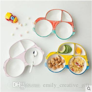2018 Children Cute Non Toxic Creative Cartoon Ceramic Car Plate Breakfast Plate Baby Separator Plate Dinnerware From Emily_creative_gift $16.83 | Dhgate. & 2018 Children Cute Non Toxic Creative Cartoon Ceramic Car Plate ...