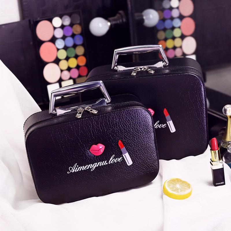 Cosmética Bags De Maquillage Cosmetics Maquillaje Case Bolsa Portable Impermeable Cross Pu Trousse Women Aseo eWH2YDE9I