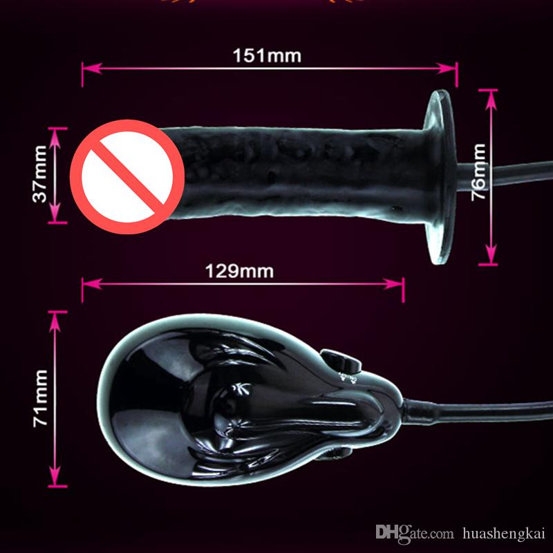 Electric Auto Vibrating inflatable dildo inflatable anal toy Butt Plug Anal Toys Sex Toys Anal Plug Bigger Joy