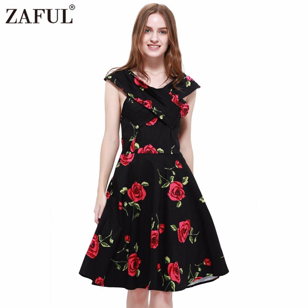 2018 Wholesale Zaful Women Plus Size Clothing Audrey Hepburn 50s