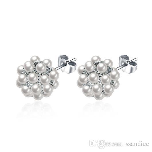 Candy Ball Sweet Pearl Earrings