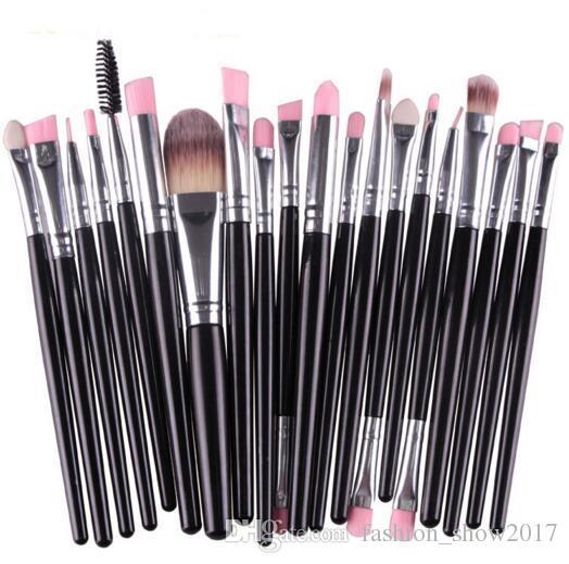 marca Pinceles de maquillaje Set de pinceles cosméticos profesionales Con polvo de contorno natural Cosméticos Pincel Maquillaje