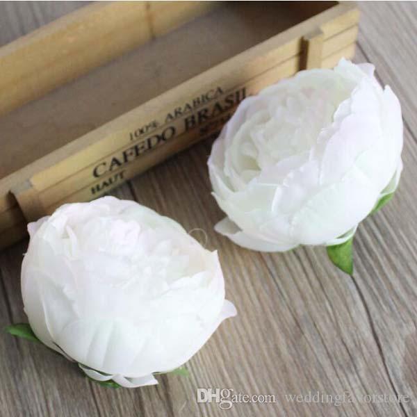 es que eliges - 10 * 7cm Silk peony cabezas de flores decoración del banquete de boda simulación artificial Silk Peony Camellia Rose Flower