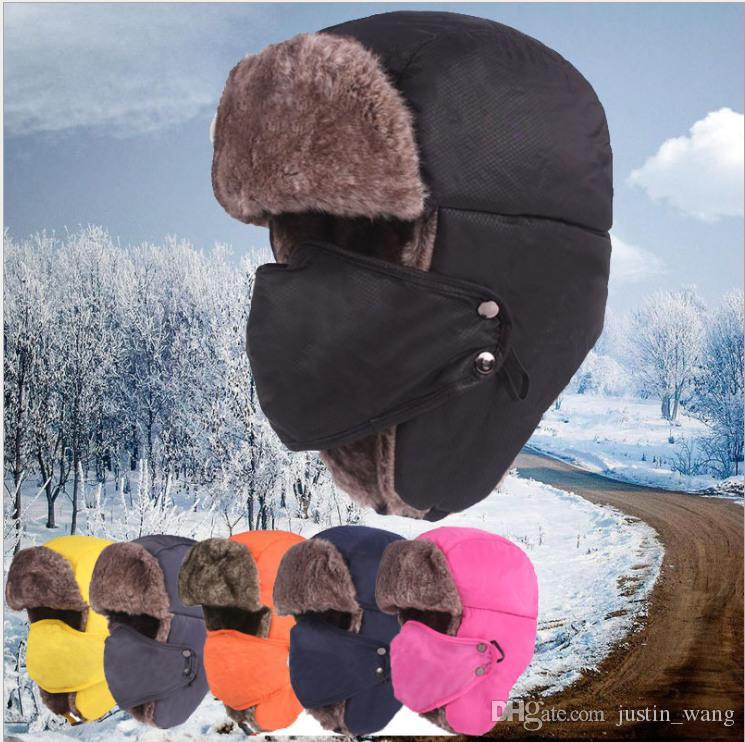 4d3c9497 2019 Hot Sale Winter Trapper Hats Cotton Men Women Unisex Lei Feng Hat  Outdoor Windproof Thicken Warm Cotton Cap With Masks Cycling Hats From  Justin_wang, ...