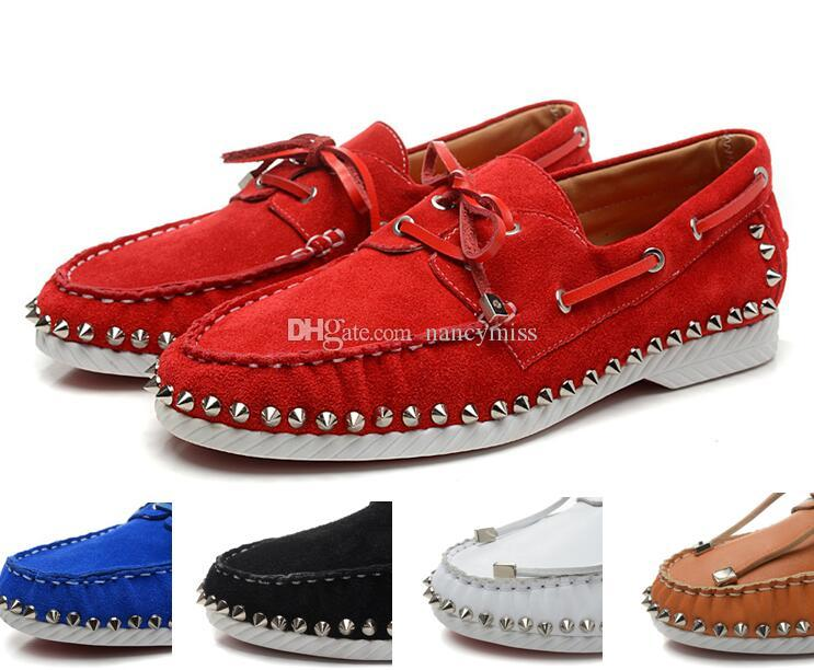 Black Pointes Sneakers FemmeLuxe Moche Sport Chaussures Designer Plates Suede Bottom De Blue Homme Avec Red Pour WxrdBeCo
