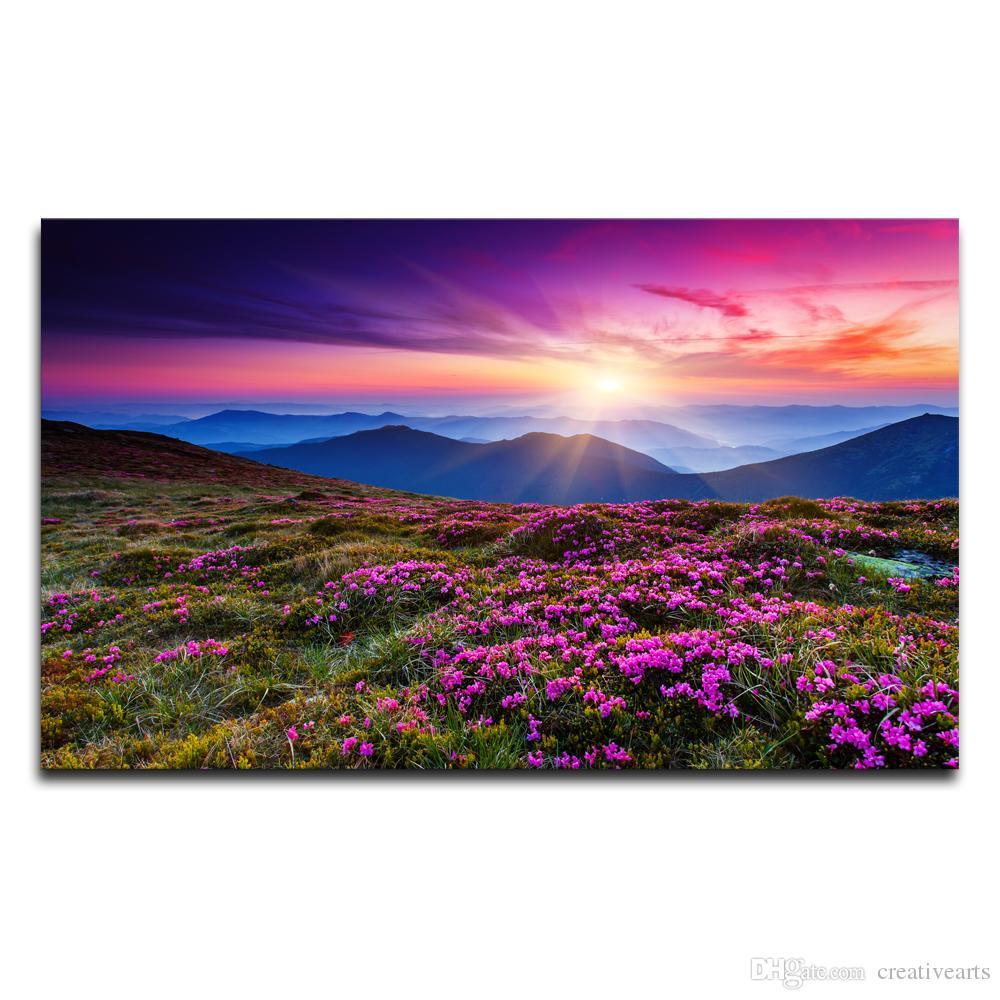 Nature Canvas Wall Art 2017 hd printed nature landscape wall art decor mountain scenery