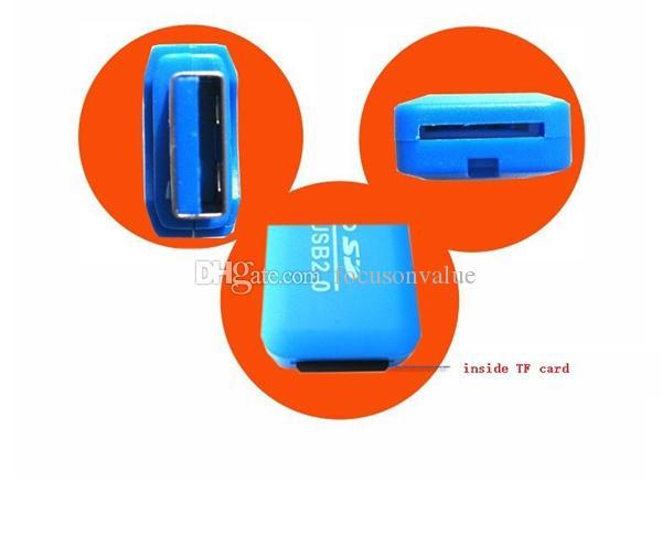 Micro SD Card Reader Micro adattatore PC Computer tramite interfaccia USB TF Flash Memory Card Lettore di schede di memoria USB2.0 ad alta velocità
