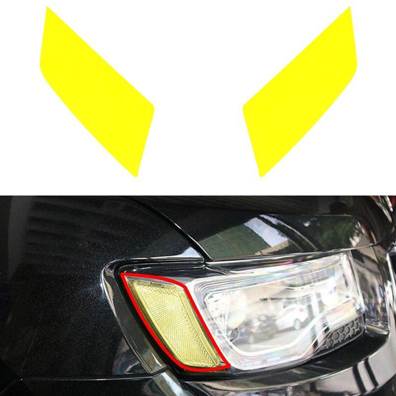 Car Light Lamp Sticker Headlamp Side Sticker Cover Trim Light Lamp Protector For Jeep Grand Cherokee 2011-2016