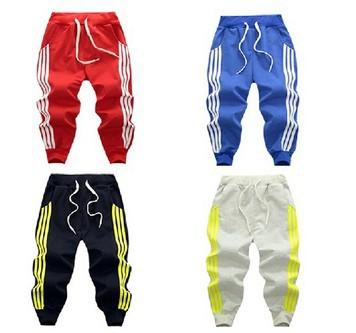 2019 Spring three bar brace stripe niños deportes pantalones boy girl pants 4 color Casual sport pants Para regalos de cumpleaños C22