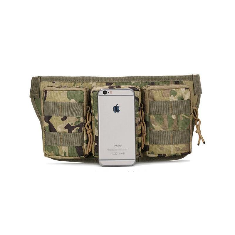 Molle en plein air imperméable à l'eau Camouflage vélo Camping randonnée Mans taille sac Sport Pack Message sac tactique militaire Pouch sac