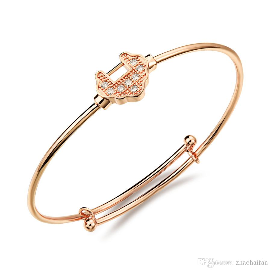 gold asos jewelry normal open lyst rose metallic bracelet product plated in sterling bangles fine bangle silver crystal