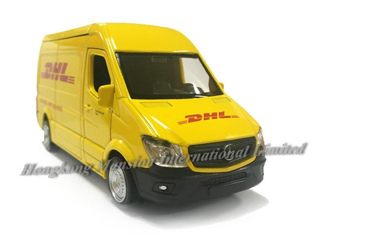 1:36 Scale Metal Diecast Alloy Express Car Model For Sprinter DHL Delivery Van Courier Vehicle Collection Licensed Model Pull Back Toys