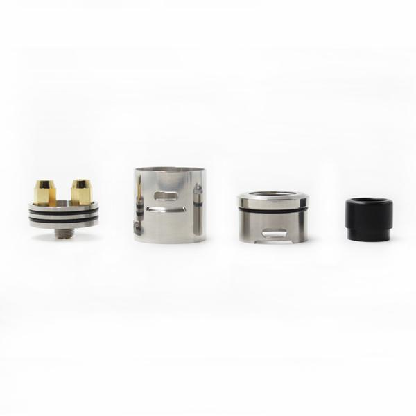 Newest Doode RDA Atomizer Rebuildable Dripper Tank 24mm with Gold Plated Connection DIY Tools Fit Vape Mods DHL Free