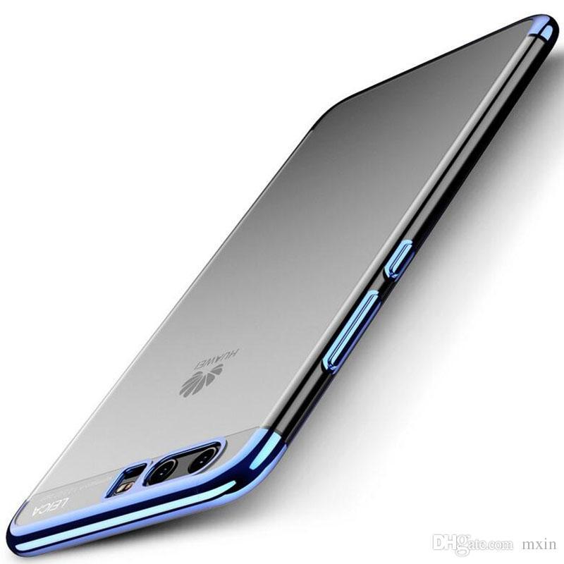 432b4e58575 Personaliza Tu Carcasa Chapado En Lujo TPU Suave Transparente Transparente  Delgado Hybrid Bumper Case Para Huawei Mate 9 Pro 10 P8 P9 P10 Lite Plus  Nova ...