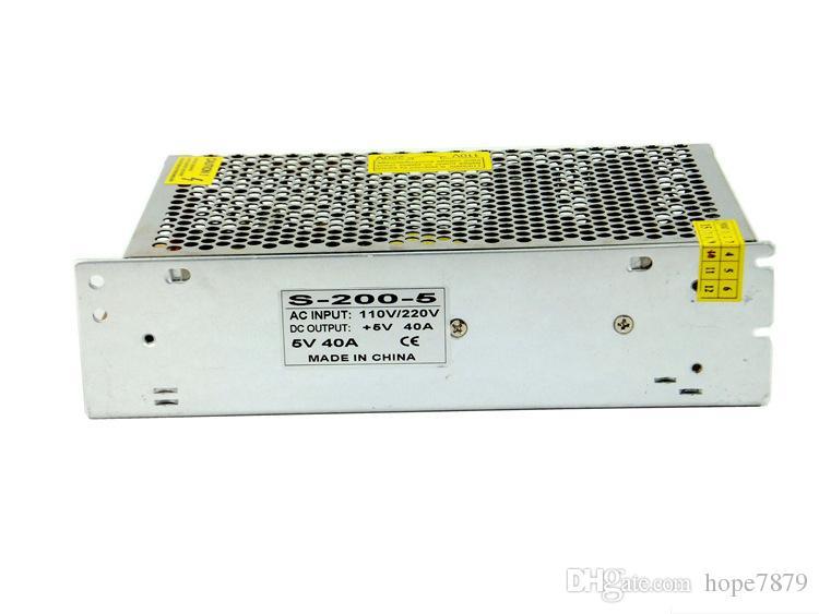 出力DC 5V 12V 24V 200WトランスLED電源ドライバ屋内照明アクセサリー入力AC 110V 220V