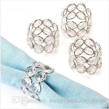 Acrylic Crystal wedding party table decoration napkin ring Dia-5cm Height-4cm Serviette Holder