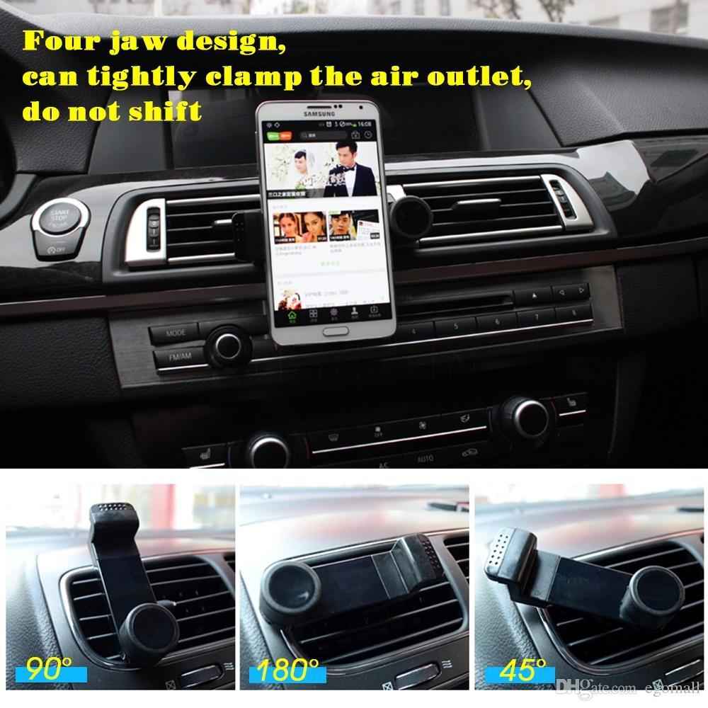 Portátil de saída de ar do carro Navegação GPS do carro iPhone Air Vent Mount Bracket ajustável Bracket Air Out para telefone celular Mobile Mount titular