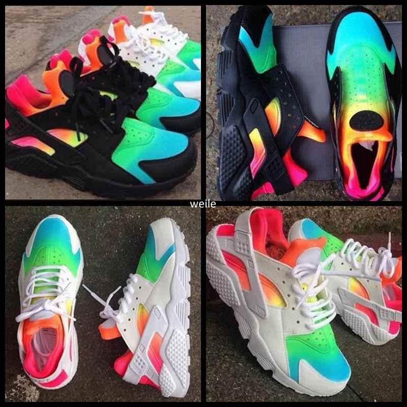 7acec72436fdc 2017 Air Huarache Ultra Mens Women Running Shoes Huaraches Rainbow Breathe  Run Shoes Huraches Multicolor Hurache Sneakers Shoe Size 36-46 Air Huarache  ...
