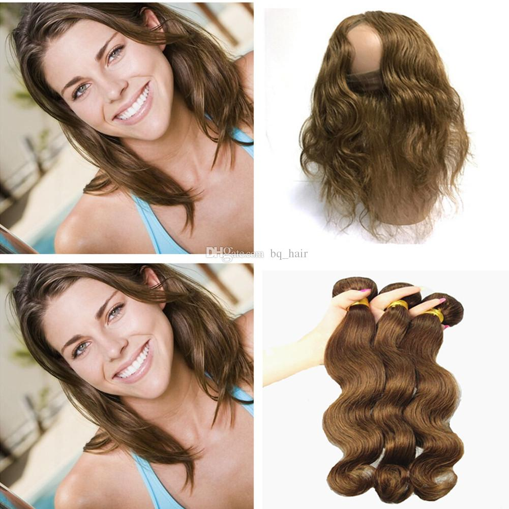 Best Indian Body Wave Virgin Hair Color 4 Medium Brown Human Hair