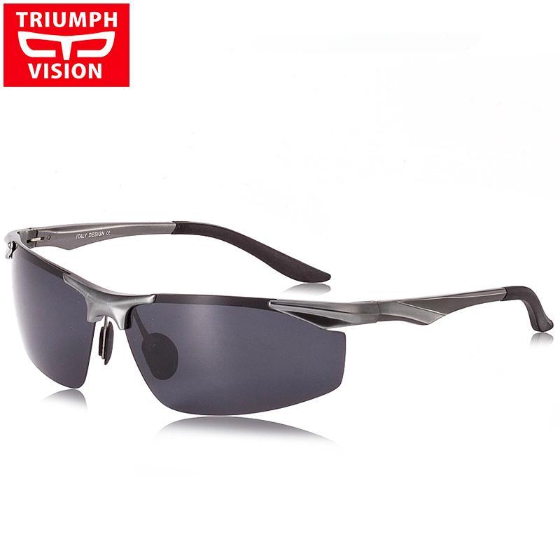 7faaaee9cc Compre Venta Al Por Mayor TRIUMPH VISIÓN UV400 Gafas De Sol Polarizadas  Para Hombres Que Conducen El Conductor Polaroid Gafas De Sol Masculinas  Hombres De ...