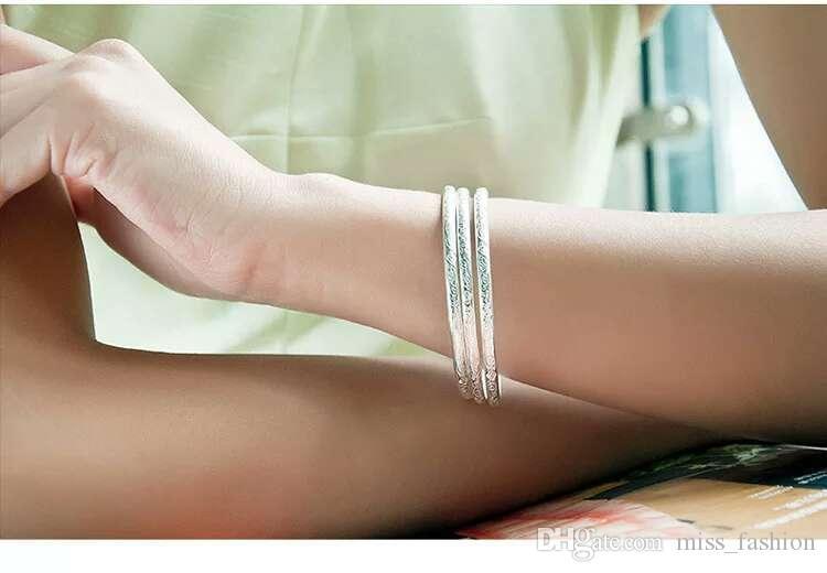 Woman Silver Armbanden Artsen Petty Armbanden Bangle Bohemian Stijl Bruiloft Heldere Open Design Armband Nieuwe Collectie