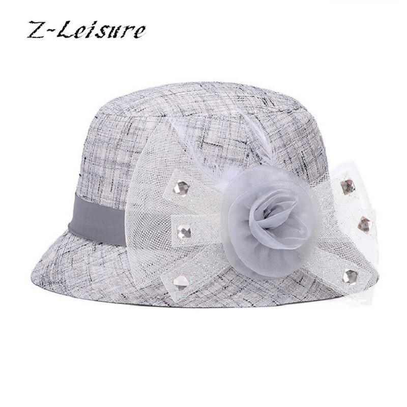 fc8dc2c5371 Wholesale- 2017 New Fashion Flat Sun Hat Women s Summer Bowknot ...