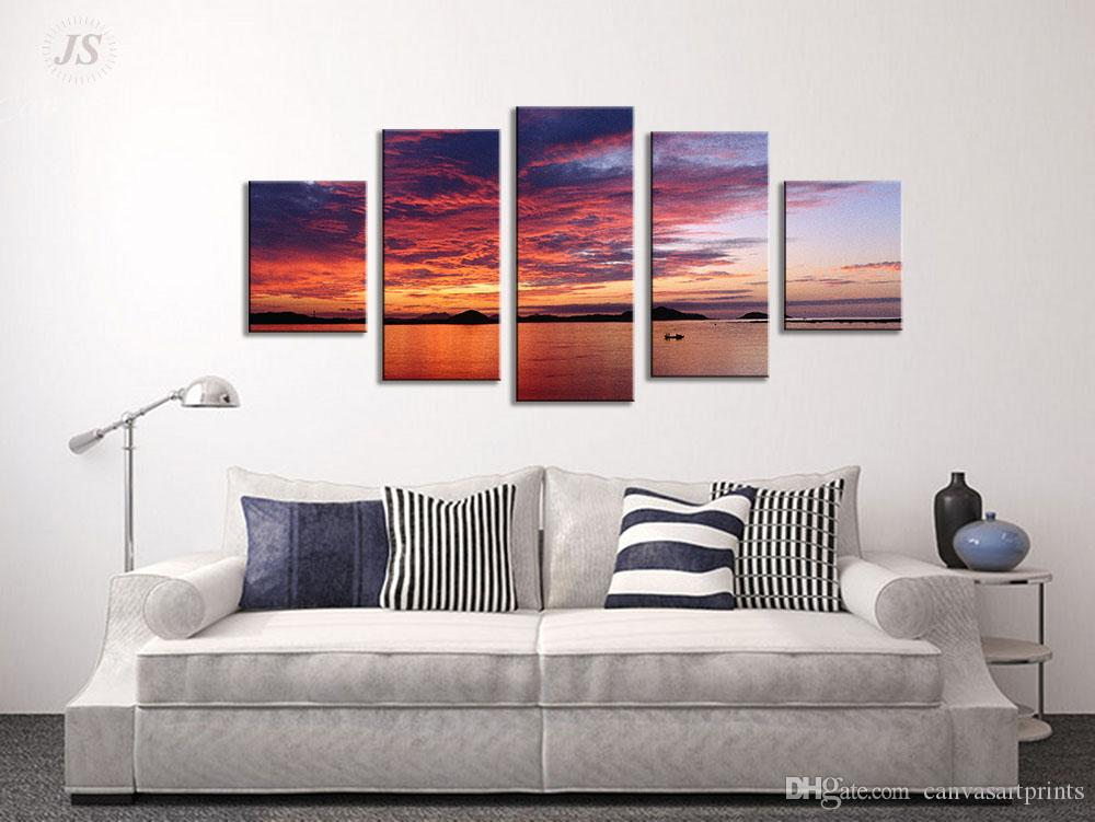 Unstretched Wall Art Prints Canvas Art Ocean Twilight Decor