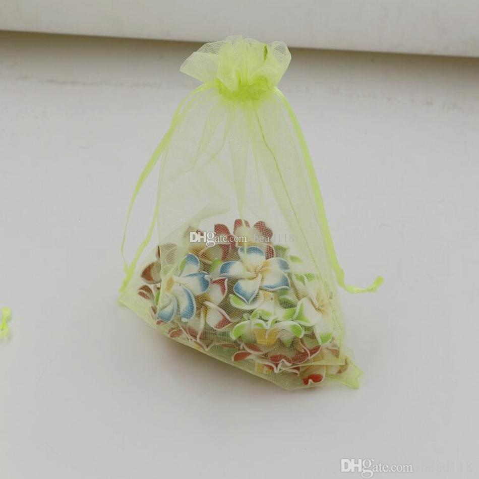 Hot Sales ! Fruit Green With Drawstring Organza Gift Bags 7x9cm 9x11cm 10x15cm etc. Wedding Party Christmas Favor Gift Bags