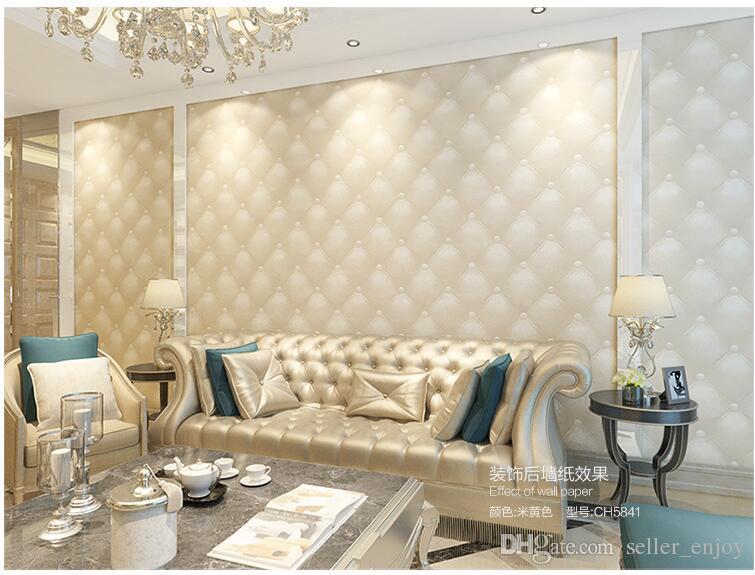 5,3 m 2 dreidimensionale Kunstleder weiche Tasche Tapete weißen Nachttisch Sofa TV Hintergrund Wandtapete